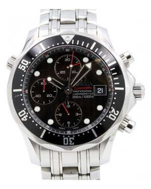 Omega Seamaster Diver 300m Chronograph Stainless Steel Black Dial & Bezel 213.30.42.40.01.001 - PRE-OWNED