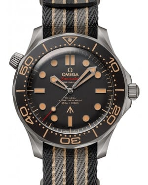 "Omega Seamaster Diver 300M Titanium ""No Time To Die"" James Bond 007 Edition 42mm Nato Strap 210.92.42.20.01.001 - BRAND NEW"