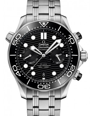 Omega Seamaster Diver 300M Co‑Axial Master Chronometer Chronograph Stainless Steel Black Dial & Ceramic Bezel Steel Bracelet 44mm 210.30.44.51.01.001 - BRAND NEW