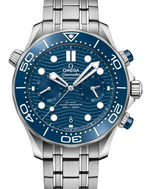 Omega Seamaster Diver 300M Co‑Axial Master Chronometer Chronograph Stainless Steel Blue Dial & Ceramic Bezel Steel Bracelet 44mm 210.30.44.51.03.001 - BRAND NEW