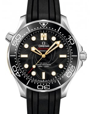 """Omega Seamaster Diver 300M Co‑Axial Master Chronometer """"James Bond"""" Limited Edition Set Stainless Steel Black Dial & Ceramic Bezel Rubber Strap 42mm 210.22.42.20.01.003 - BRAND NEW"""