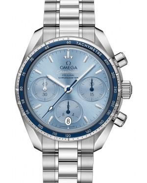 Omega Speedmaster 38 Co‑Axial Chronograph Stainless Steel Blue Dial & Bezel Steel Bracelet 38mm 324.30.38.50.03.001 - BRAND NEW