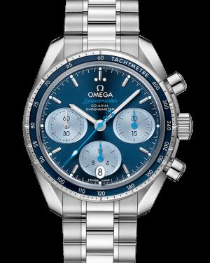 Omega Speedmaster Co-Axial Chronometer Chronograph Stainless Steel Blue 38mm Dial Bezel & Bracelet 324.30.38.50.03.002 - BRAND NEW
