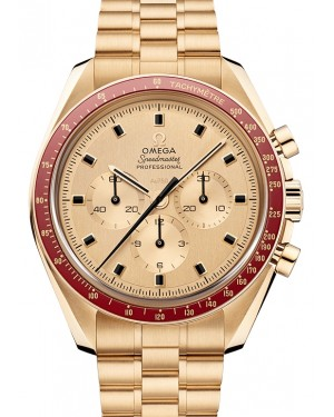 "Omega Speedmaster Moonwatch Anniversary Limited Series ""Apollo 11 50th Anniversary"" Moonshine™ Gold  Yellow Dial & Ceramic Bezel Gold Bracelet 42mm 310.60.42.50.99.001 - BRAND NEW"