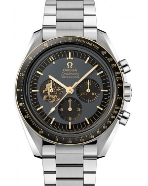"Omega Speedmaster Moonwatch Anniversary Limited Series ""Apollo 11 50th Anniversary"" Stainless Steel Grey Dial & Gold Bezel Steel Bracelet 42mm 310.20.42.50.01.001 - BRAND NEW"