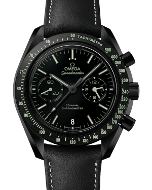 Omega Speedmaster Moonwatch Co-Axial Chronograph Black Dial & Ceramic Bezel Leather Strap 44.25mm 311.92.44.51.01.004 - BRAND NEW