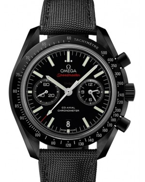 Omega Speedmaster Moonwatch Co-Axial Chronograph Ceramic Black Dial & Ceramic Bezel Nylon Strap 44.25mm 311.92.44.51.01.007 - BRAND NEW