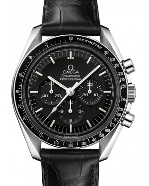 Omega Speedmaster Moonwatch Professional 42mm Stainless Steel Black Index Dial Leather Strap 311.33.42.30.01.001 - BRAND NEW