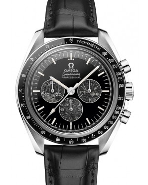 Omega Speedmaster Moonwatch Professional Chronograph Platinum Black Dial & Ceramic Bezel Leather Strap 42mm 311.93.42.30.99.001 - BRAND NEW