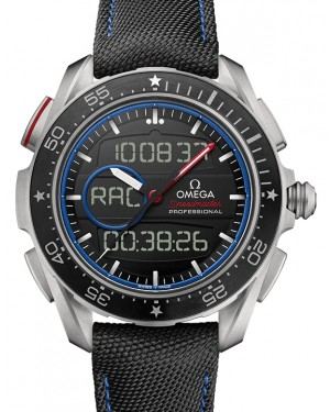 "Omega Speedmaster X‑33 Regatta ""ETNZ Limited Edition"" Chronograph Titanium Black Dial & Ceramic Bezel Fabric Strap 45mm 318.92.45.79.01.001 - BRAND NEW"