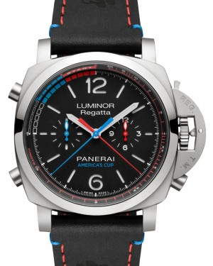 Panerai PAM 726 Luminor 1950 Regatta Oracle Team Usa 3 Days Chrono Flyback Automatic Titanio Black / Red / Blue Arabic / Index Titanium Leather 47mm BRAND NEW