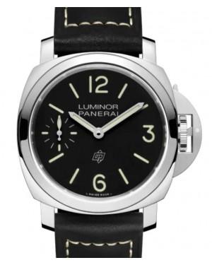 Panerai Luminor Logo Stainless Steel 44mm Black Dial Leather Strap PAM01084 - BRAND NEW