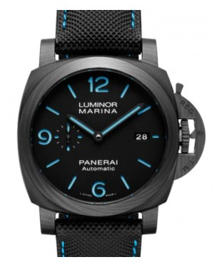 Panerai Luminor Marina Carbotech™ Carbon Fibre 44mm Black Dial Sportech™ Fabric Rubber Strap PAM01661 - BRAND NEW