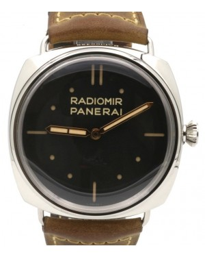 Panerai PAM 425 Radiomir S.L.C 3 Days Men's 47mm Stainless Steel Leather - PRE-OWNED