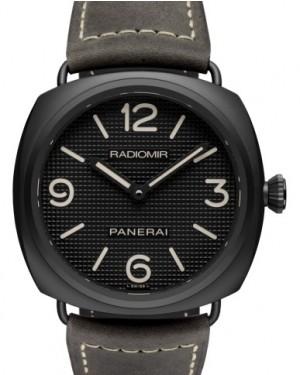 Panerai PAM 643 Radiomir Ceramica Ceramic Black Arabic / Index Dial & Smooth Leather Bracelet 45mm - BRAND NEW