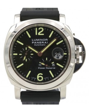 Panerai PAM 90 Luminor Power Reserve Automatic Acciaio 44mm Stainless Steel Rubber - PRE-OWNED