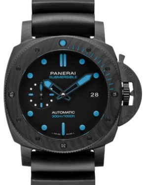 Panerai PAM 960 Submersible Carbotech™ Carbotech Black Index / Dot Dial & Carbotech Rubber Bracelet 42mm - BRAND NEW
