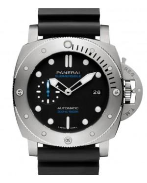 Panerai Submersible Titanium 47mm Black Dial Rubber Strap PAM01305 - BRAND NEW