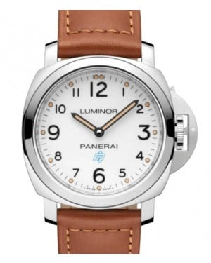 Panerai Luminor Base Logo Stainless Steel 44mm White Dial Leather Strap PAM00775 - BRAND NEW
