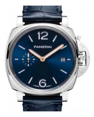 Panerai Luminor Due Stainless Steel 42mm Blue Dial Alligator Leather Strap PAM01274 - BRAND NEW