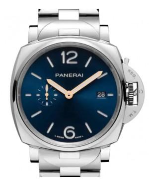 Panerai Luminor Due Stainless Steel 42mm Blue Dial Steel Bracelet PAM01124 - BRAND NEW