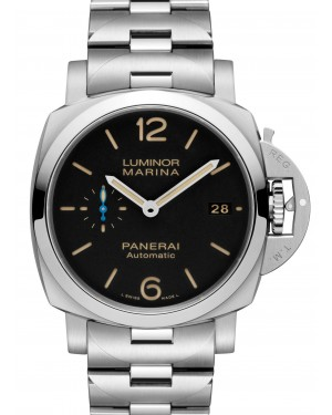 Panerai PAM 00722 Luminor Marina Black Arabic/Index Dial & Stainless Steel Bracelet 42mm - BRAND NEW