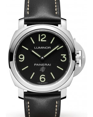 Panerai PAM 00773 Luminor Base Logo Stainless Steel Black Arabic/Index Dial & Leather Strap 44mm - BRAND NEW