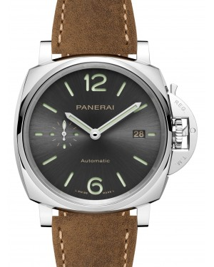 Panerai PAM 00904 Luminor Due Anthracite Arabic/Index Dial & Leather Strap 42mm - BRAND NEW