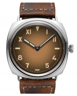Panerai Radiomir California Stainless Steel 47mm Brown Dial Leather Strap PAM00931 - BRAND NEW