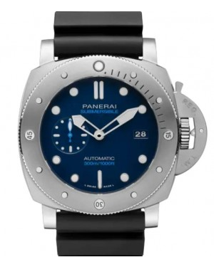Panerai Submersible BMG-TECH™ Metallic Glass 47mm Blue Dial Rubber Strap PAM00692 - BRAND NEW