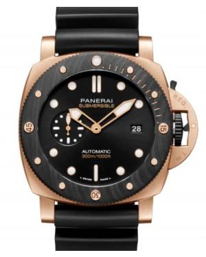 Panerai Submersible Goldtech™ OroCarbo Gold Copper Carbon Fibre 44mm Black Dial Rubber Strap PAM01070 - BRAND NEW