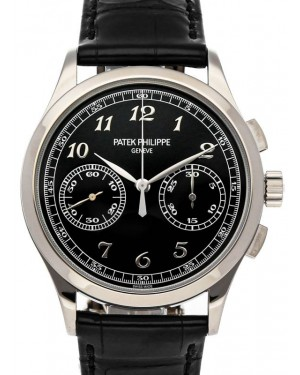 Patek Philippe 5170G-010 Complications Chronograph 39.4mm Black Opaline Arabic White Gold Manual - BRAND NEW