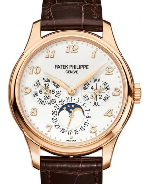 Patek Philippe 5327R-001 Grand Complications 39mm Ivory Arabic Rose Gold Leather - Brand New