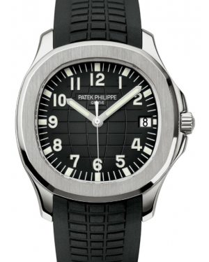 Patek Philippe Aquanaut Black Dial Stainless Steel Bezel Rubber Bracelet 40 mm 5167A-001 - BRAND NEW