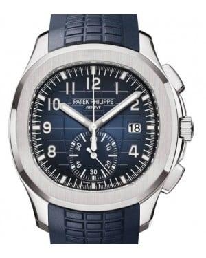 Patek Philippe Aquanaut Chronograph White Gold 42.2mm Blue Dial 5968G-001 - BRAND NEW