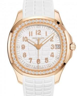 Patek Philippe Aquanaut Luce Automatic Rose Gold Diamonds 38.8mm White Dial Rubber Strap 5268/200R-001 - BRAND NEW