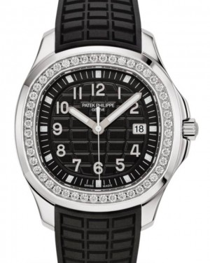 Patek Philippe Aquanaut Luce Stainless Steel Diamonds 38.8mm Black Dial Strap 5267/200A - BRAND NEW