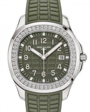 Patek Philippe Aquanaut Luce Stainless Steel Diamonds 38.8mm Green Dial Strap 5267/200A-011 - BRAND NEW
