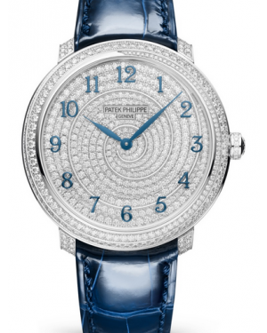 Patek Philippe Calatrava Diamond Set Dial & Bezel Blue Leather Strap 36.5mm 4978/400G-001 - BRAND NEW