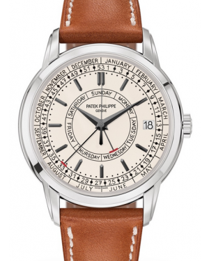 Patek Philippe Calatrava Weekly Calendar Steel 40mm Silver Opaline Dial Leather Strap 5212A-001 - BRAND NEW