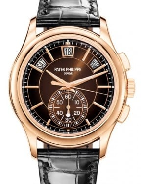 Patek Philippe Complications Flyback Chronograph Annual Calendar Rose Gold 42mm Brown Sunburst Dial 5905R-001 - BRAND NEW