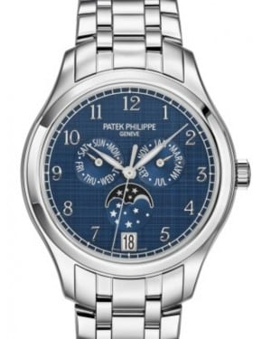 Patek Philippe Complications Annual Calendar Moon Phase Stainless Steel 38mm Blue Dial Bracelet 4947/1A-001 - BRAND NEW