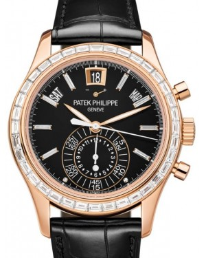 Patek Philippe Complications Chronograph Annual Calendar Rose Gold 40.5mm Black Index Leather Strap 5961R-010 - BRAND NEW