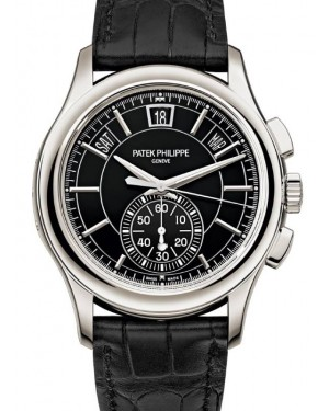 Patek Philippe Complications Flyback Chronograph Annual Calendar Platinum 42mm Black Dial 5905P-010 - BRAND NEW