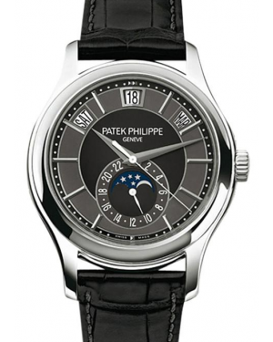 Patek Philippe Complications Day-Date Moon Phase 40mm Black Slate Index White Gold Automatic 40mm 5205G-010 - BRAND NEW