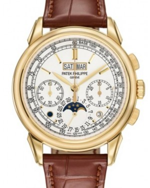 Patek Philippe Grand Complications Perpetual Calendar Chronograph Yellow Gold 41mm Silver Dial Leather Manual 5270J-001 - BRAND NEW