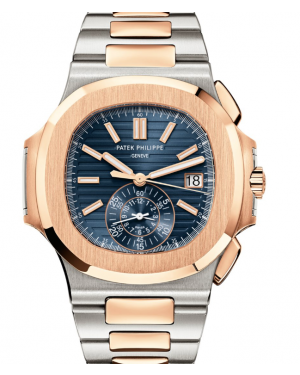 Patek Philippe Nautilus Blue Dial Rose Gold/Steel Bracelet 40.5 mm 5980/1AR - BRAND NEW