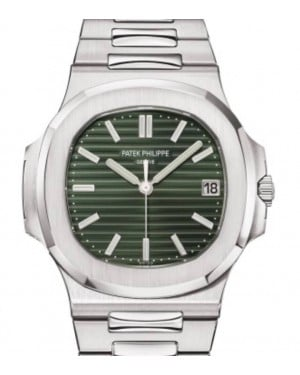 Patek Philippe Nautilus Date Sweep Seconds Stainless Steel 40mm Green Dial Bracelet 5711/1A-014  - BRAND NEW