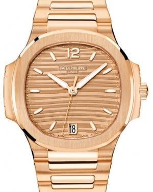 Patek Philippe Nautilus Ladies Golden Brown Opaline Index Rose Gold 35.2mm 7118/1R-010 - BRAND NEW