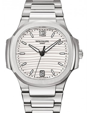 Patek Philippe Nautilus Ladies Silver Opaline Index Stainless Steel 35.2mm 7118/1A-001 - BRAND NEW